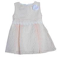 Летнее платье персикового цвета для девочки