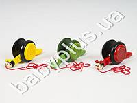 Деревянная игрушка Каталка Улитка, 3 вида, в кульке
