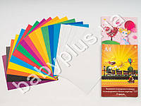 Цветной и белый картн + цветная бумага А4 777 21 лист