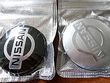 3D наклейки на диски и колпаки NISSAN металл  56 мм  и  65 мм