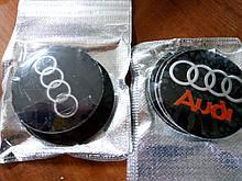 3D наклейки на диски и колпаки AUDI металл  56 мм  и  65 мм