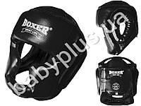 Шлем тренеровочный каратэ Элит L (кожвинил 0.8мм, нап. - пенопоролон) черный