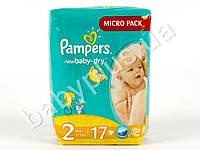"Подгузники Pampers ""New Baby-Dry Mini"" (3-6 кг) 17шт"