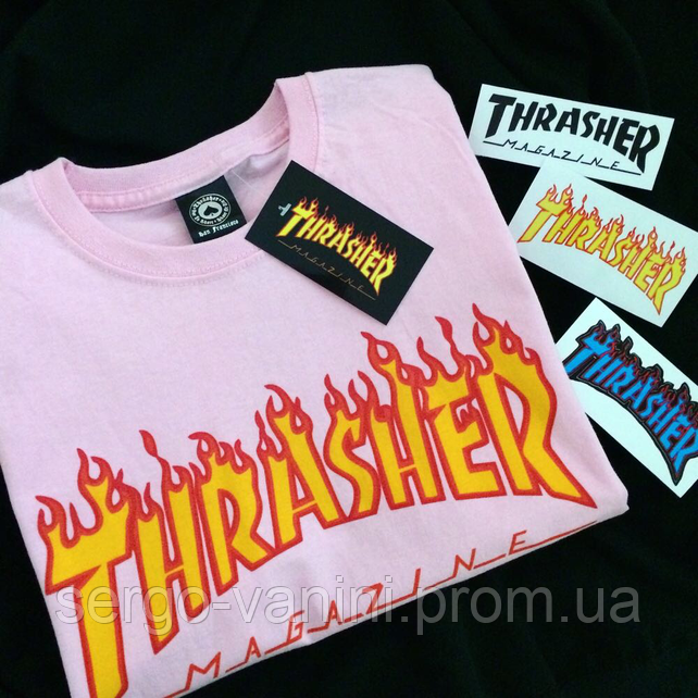 Футболка Thrasher розовая • Бирка топчик • Реальные фотки