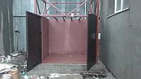 Грузовой лифт подъемник нестандартной конструкции