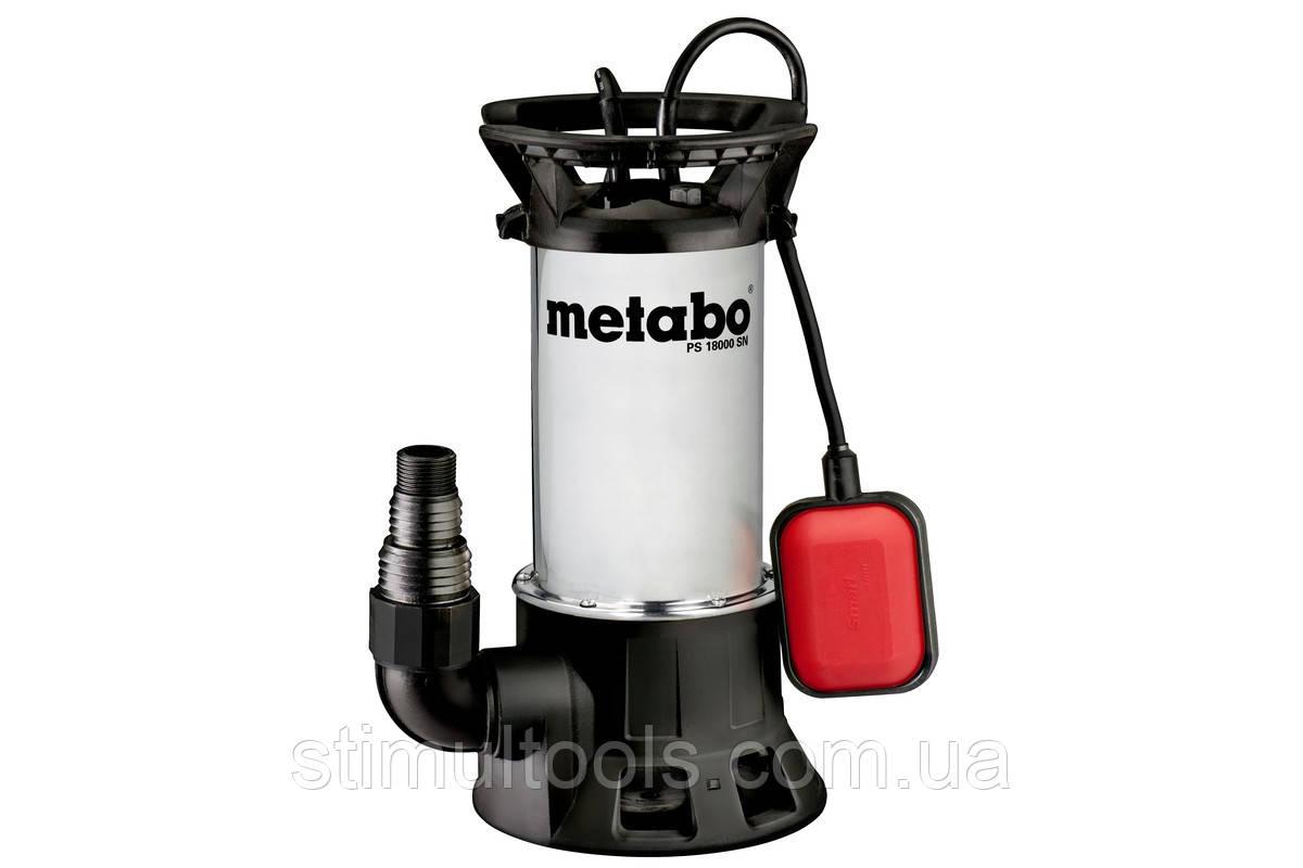 Погружной насос для грязной воды Metabo PS 18000 SN