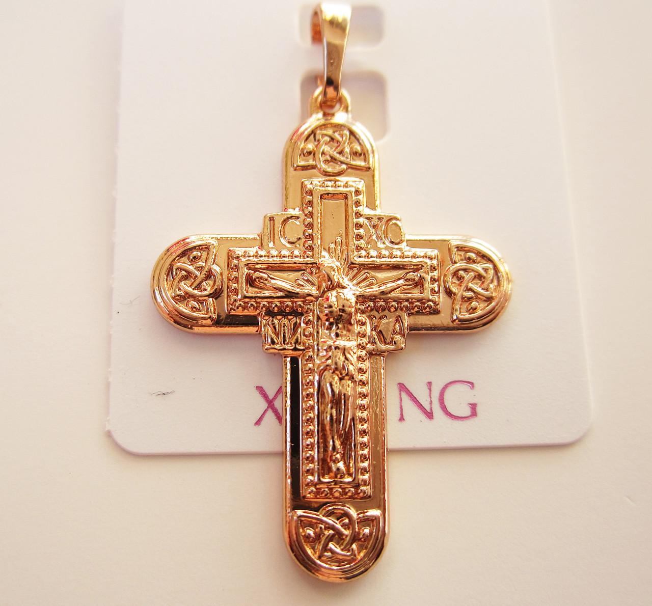 Крестик православный, позолота 18К под советское золото