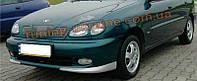 Накладка на передний бампер для Daewoo Lanos 1997 седан из 2 частей