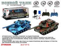 Радио управляемая игрушка Танк ZYB-B1652 Танковое сражение на аккумуляторе музыка светится 2шт в коробке 38,5*15*19