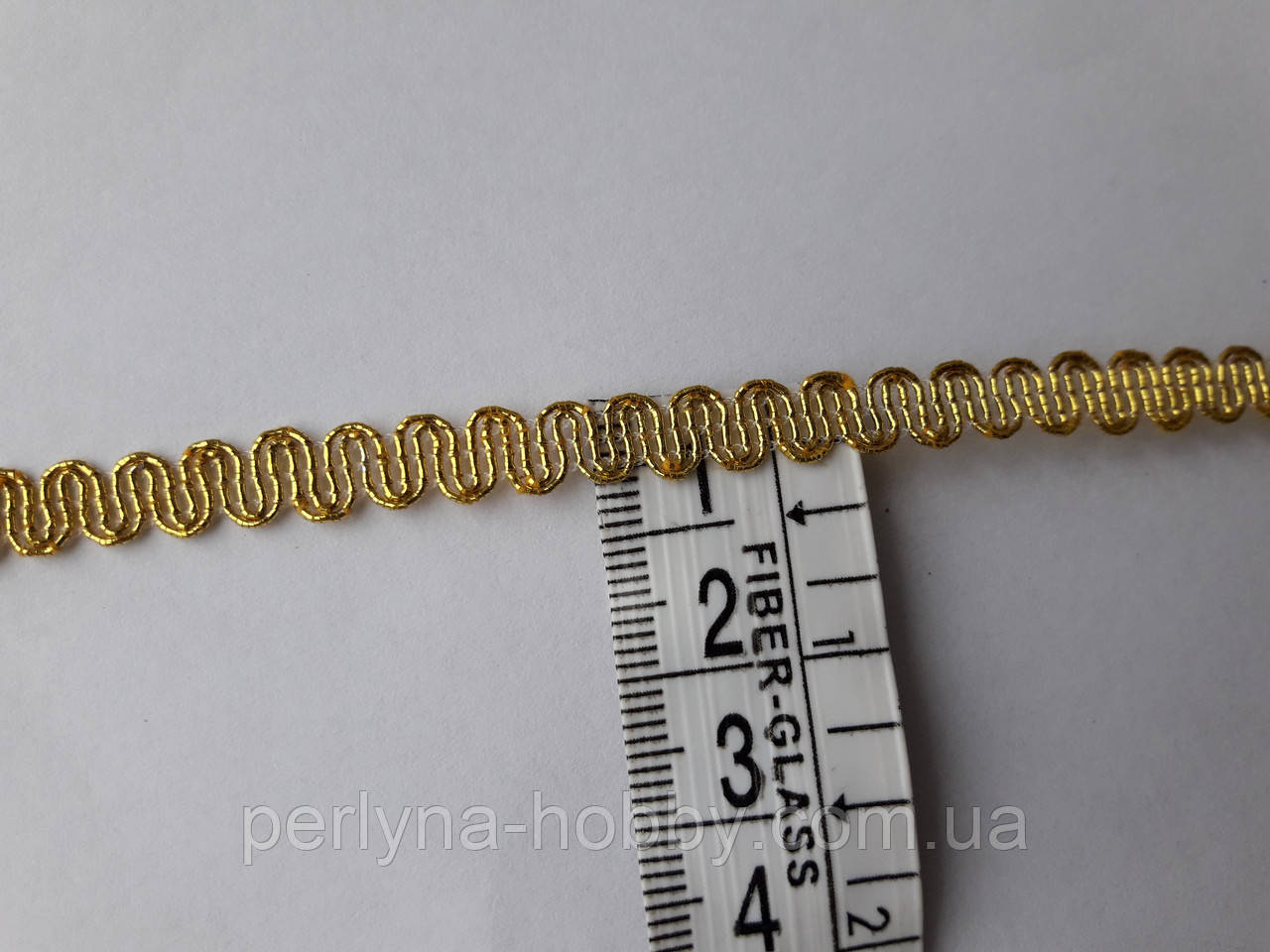 Тесьма декоративная Тасьма декоративна люрекс золото 6мм