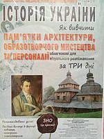 ЗНО Історія України, пам'ятки архітектури, образотворчого мистецтва та персоналії.