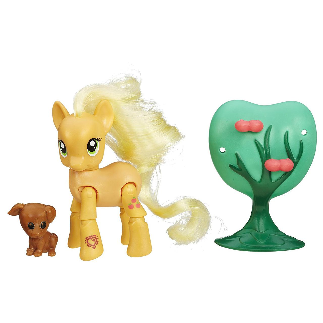 Пони Эпплджек с артикуляцией My Little Pony Friendship Is Magic Applejack Applebucking Poseable Pony