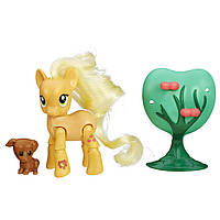 Пони Эпплджек с артикуляцией My Little Pony Friendship Is Magic Applejack Applebucking Poseable Pony, фото 1