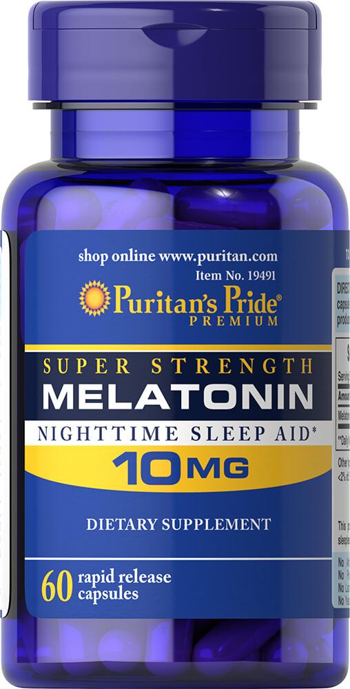 Мелатонин Puritans Pride MELATONIN 10мг 60 капсул