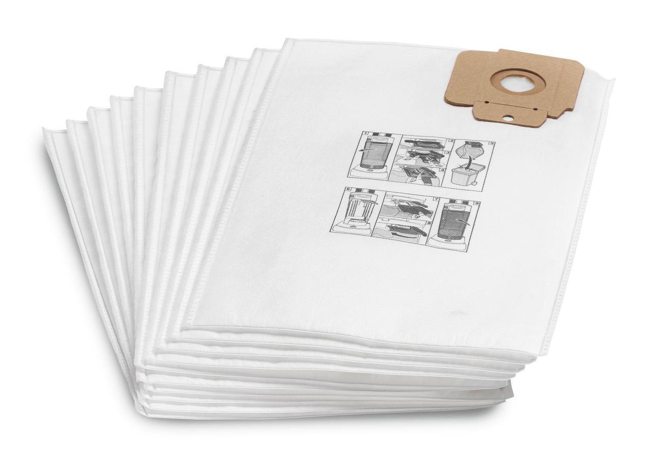 Фильтр-мешок из нетканого материала (флис), 10шт. в упак для CV 30/1, 38/1, 38/2, 48/2