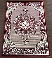 Красный прямоугольный рельефный ковер ( ТУРЦИЯ)