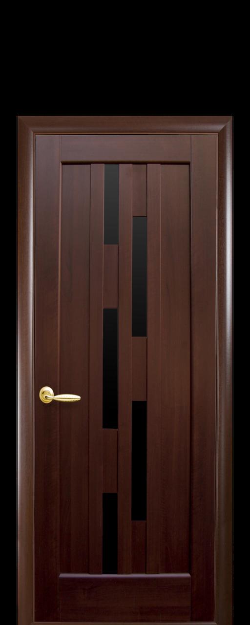 """Межкомнатные двери """"Лаура"""" с черным стеклом"""