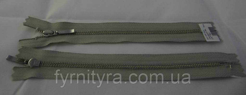 Металл YKK 18cm 576 светло-серый 1 бег №3 никель