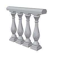 Балюстрада с Романским орнаментом (Арт.B303_s) искусственный мрамор, фото 1