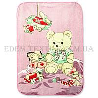 Детский плед 110х140 Maxi Медвежонок, Розовый, 110х140