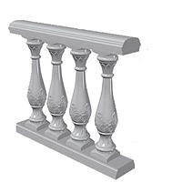 Балюстрада с Романским орнаментом (Арт.B305_s) искусственный мрамор, фото 1