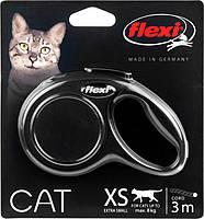 Поводок-рулетка Flexi Cat XS,трос 3м/8кг (черний)