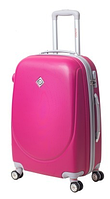 Чемодан Bonro Smile средний с двойными колесами розовый (110220)