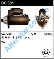 Стартер CS801 на Фольксваген Т4 (VW T4) 0001125001 Bosch Новbый! Гарантія! Польща SASS