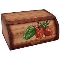 """Хлебница деревянная """"Овощи"""", фото 1"""