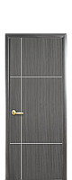 """Межкомнатные двери """"Ника"""" глухое полотно с гравировкой silver, фото 1"""