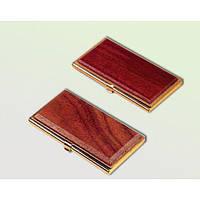 1-144/красное дерево/ Деревянный контейнер для визиток BESTAR № 1327