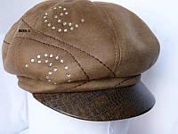 Теплая шапка из  кожи