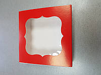 Коробка для конфет на 9 шт  с окошком 12м x 12см Галетте - 04791
