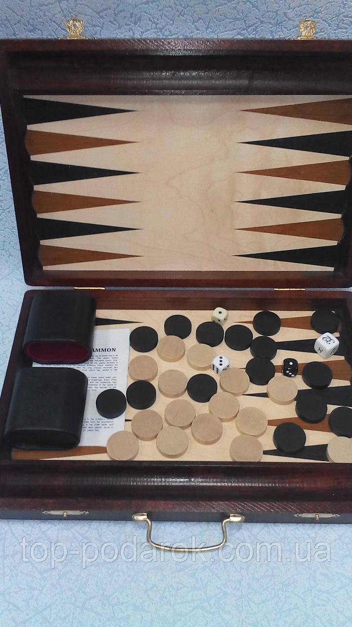 Нарды подарочные в деревянном кейсе размер 39*27 см