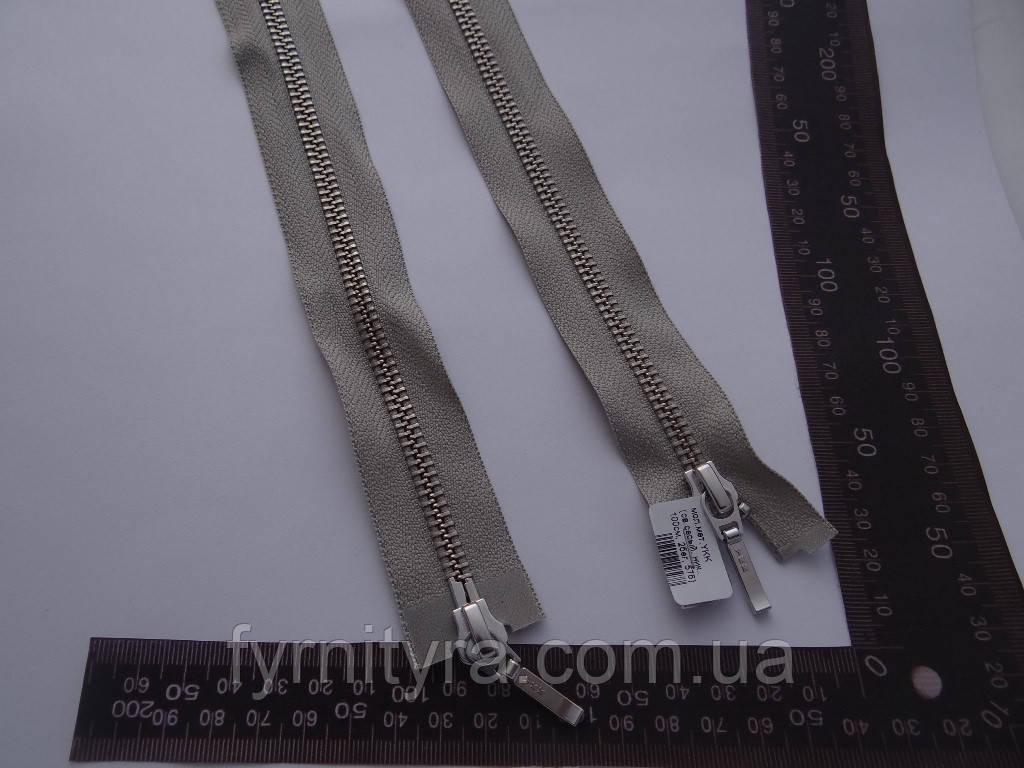 Металл YKK 100cm 576 светло-серый 2 бег №5 никель
