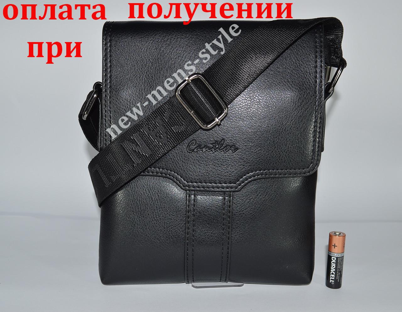 Чоловіча шкіряна фірмова сумка барсетка Cantlor класика планшетка