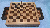Шахматы деревянные резные размер 31*31
