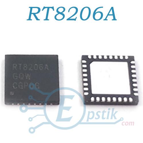 RT8206A, контроллер питания ноутбука, WQFN-32L 5x5