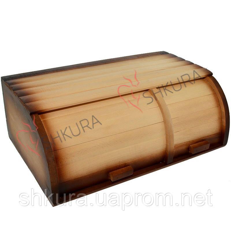 Деревянная хлебница на 2 отделения