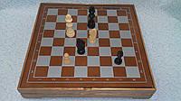 Шахматы-нарды деревянные размер 30*30 см
