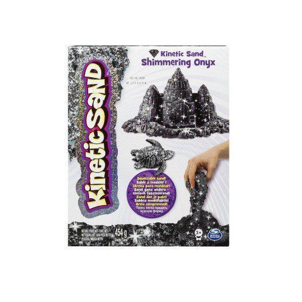 Песок для детского творчества - KINETIC SAND METALLIC (черный, 454 г) 71408On