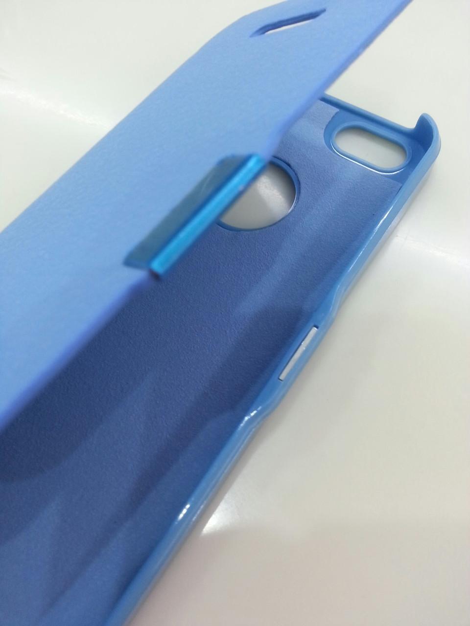 Голубой чехол-книжка для Iphone 5/5S на магните