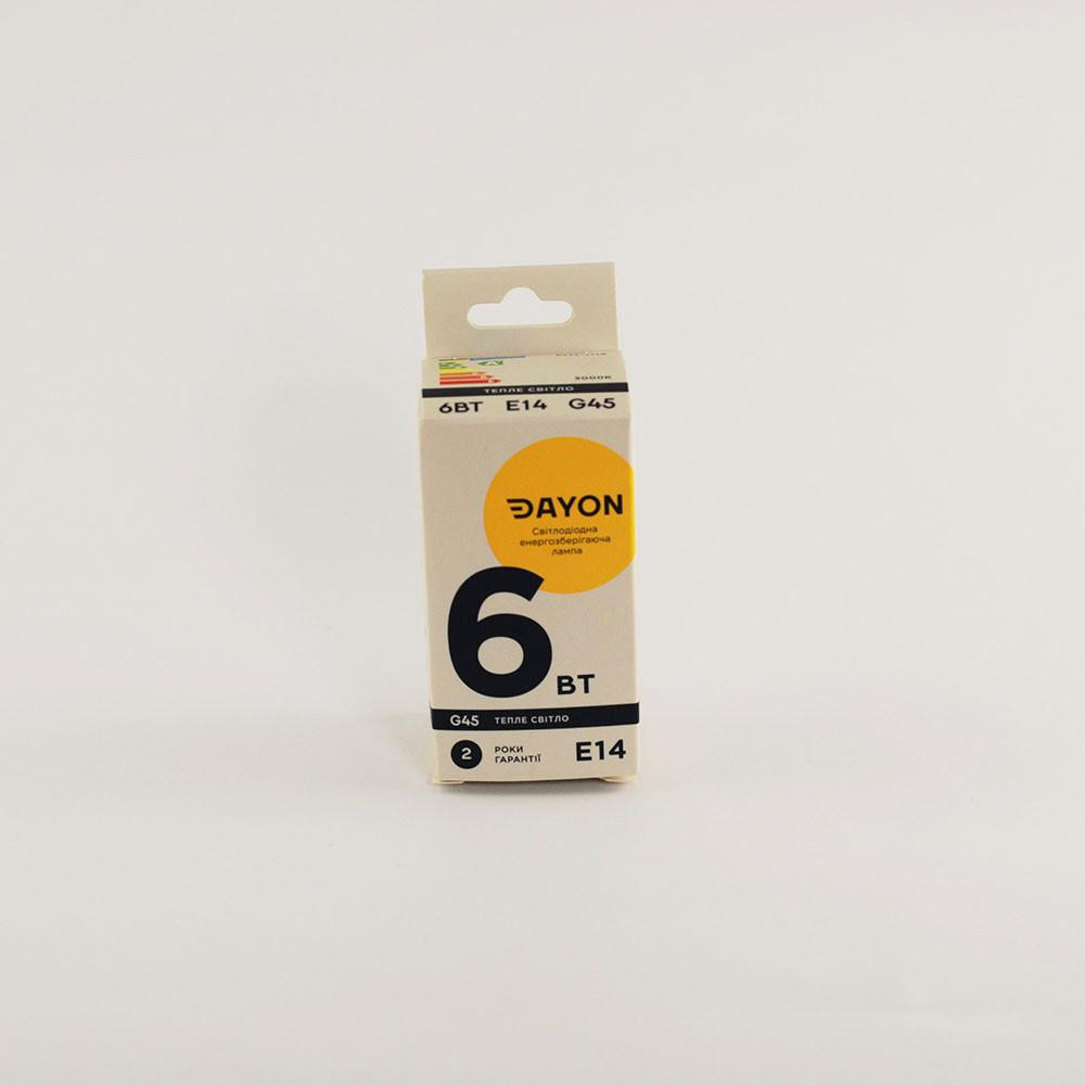 Светодиодная лампа DAYON EMT-1713 G45 6W 3000K E14
