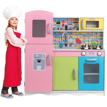Деревянная кухня для детей Color TK038 + набор посуды, фото 2