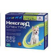 Нексгард Спектра NexGard Spektra таблетки от блох и клещей против глистов для собак 7,5-15 кг №3 Merial