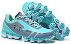 Женские спортивные кроссовки Under Armour Scorpio Blue Grey (в стиле Андер Армор) голубые/серые, фото 2