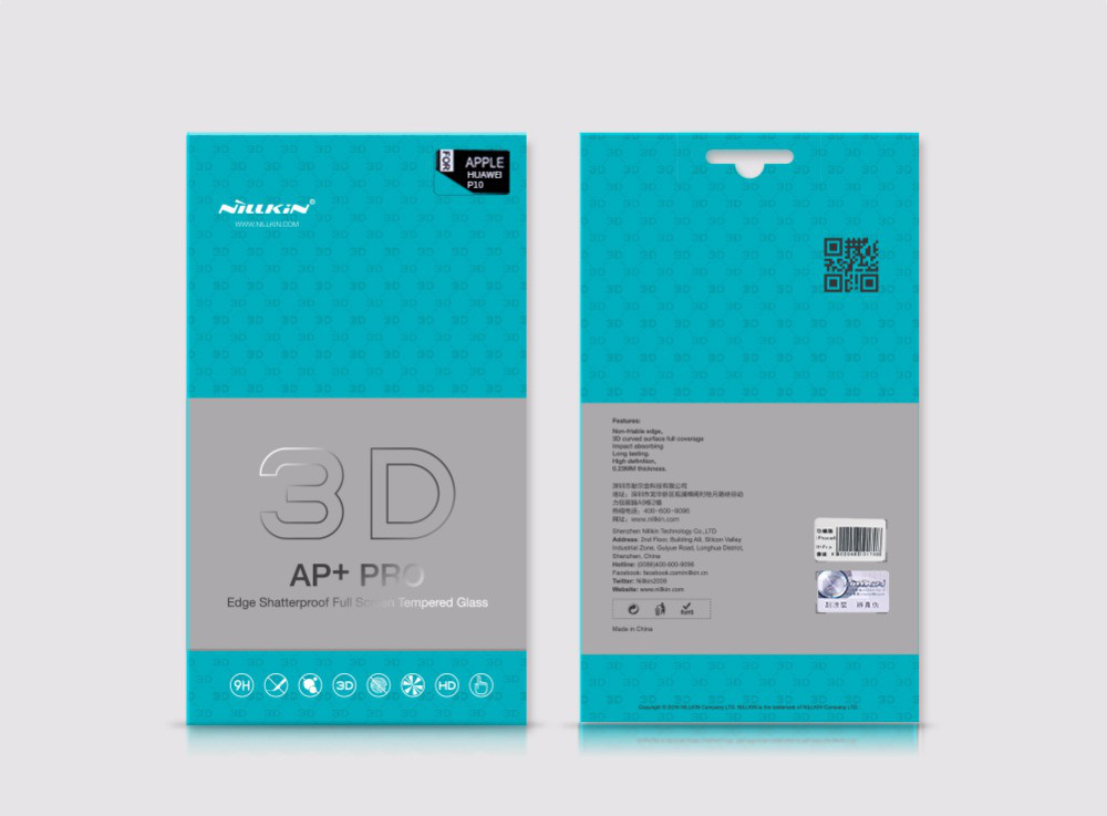 Защитное стекло для телефона Nillkin Edge Shatterproof Full Screen (3D AP + PRO) Samsung G955 Galaxy S8 Plus (