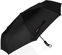 Солидный, мужской зонт-автомат LANTANA LMI667, черный, Антиветер