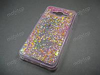Силиконовый чехол с блестками Samsung J700H Galaxy J7, фото 1