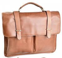 Кожаный портфель 1001 Brown классический деловой портфель из натуральной кожи